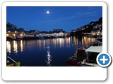 Looe Harbour at night - 'Looe by Lamplight' tour in September