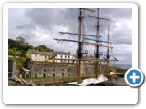 Tall ships at Charlestown, scene of many period dramas, including the new Poldark.