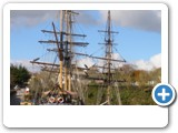 Tall ships at Charlestown, scene of many period dramas.